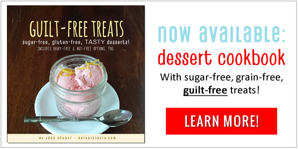 sugar-free dessert cookbook now available