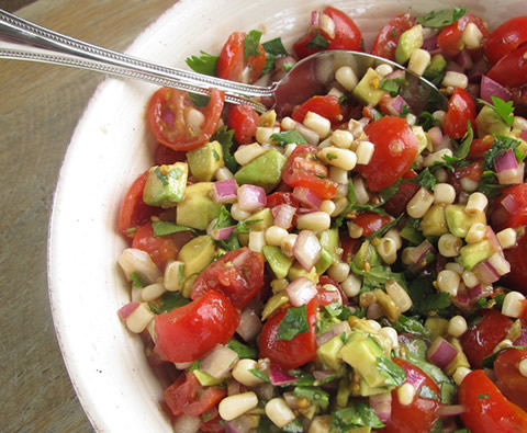 tomato avocado salad or salsa