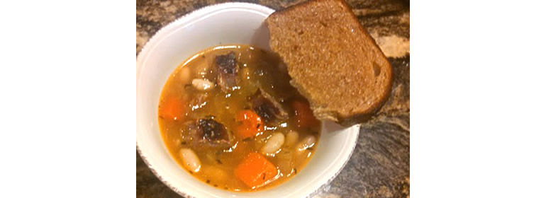 brat and cabbage soup