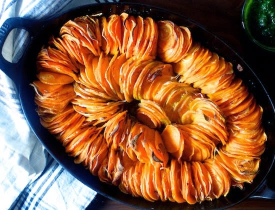 roasted sweet potato dish