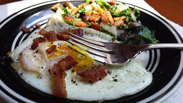 Is fat healthy? Yes - eggs + bacon for breakfast!