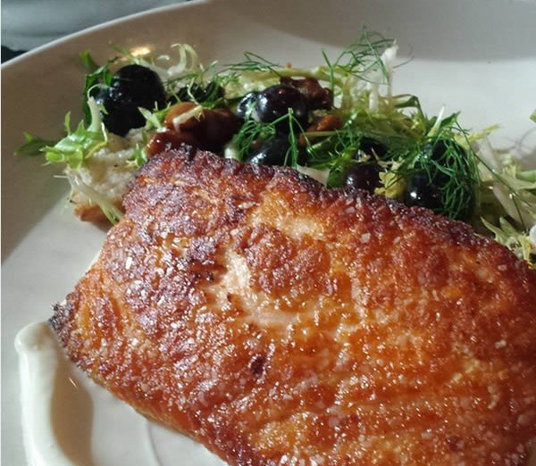 restaurant review; 715 - pan seared salmon