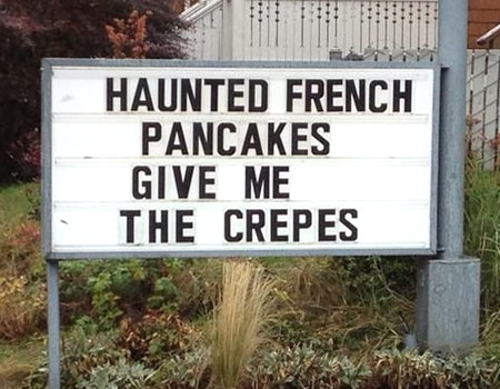 funny: haunted french pancakes