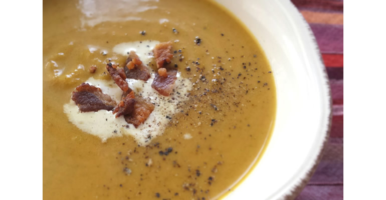 cream of pumpkin soup - can be paleo
