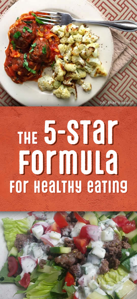 5-star formula for healthy eating
