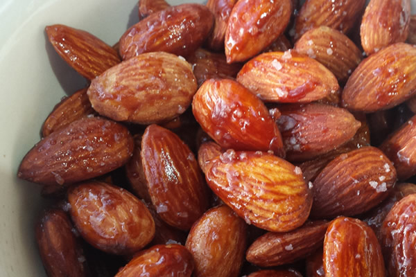 Maple Bourbon Almonds from The Dude Diet