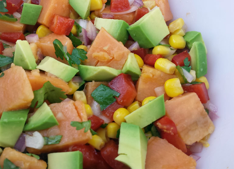 Southwestern Sweet Potato Salad from The Dude Diet