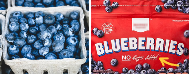 blueberries - fresh and frozen