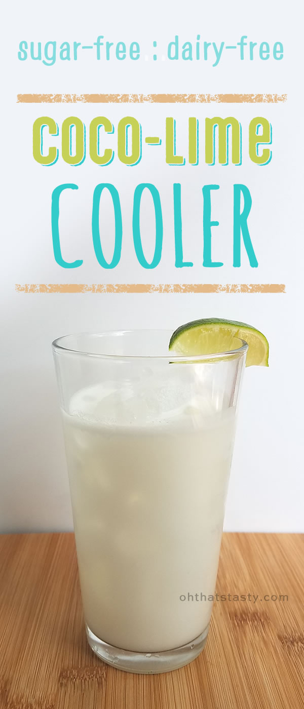 This coconut-lime cooler (slushy? mocktail?) tastes indulgent, but it's Paleo-friendly! Sugar-free and dairy-free.