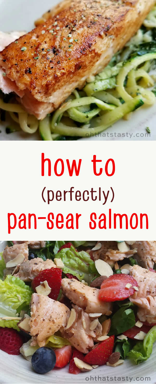 How to perfectly pan-sear salmon to fall-apart tender, in less than 10 minutes. Video with clear explanation!