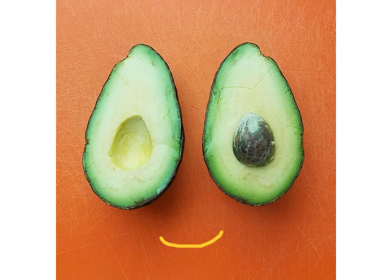 what's good about avocados - happy avocado face