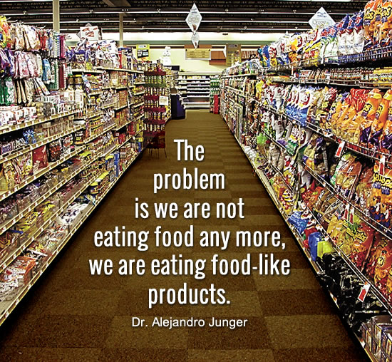 We are eating food-like products.