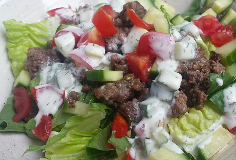 gyro-inspired salad