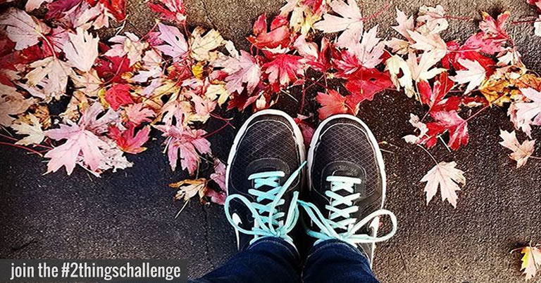 join the #2thingschallenge